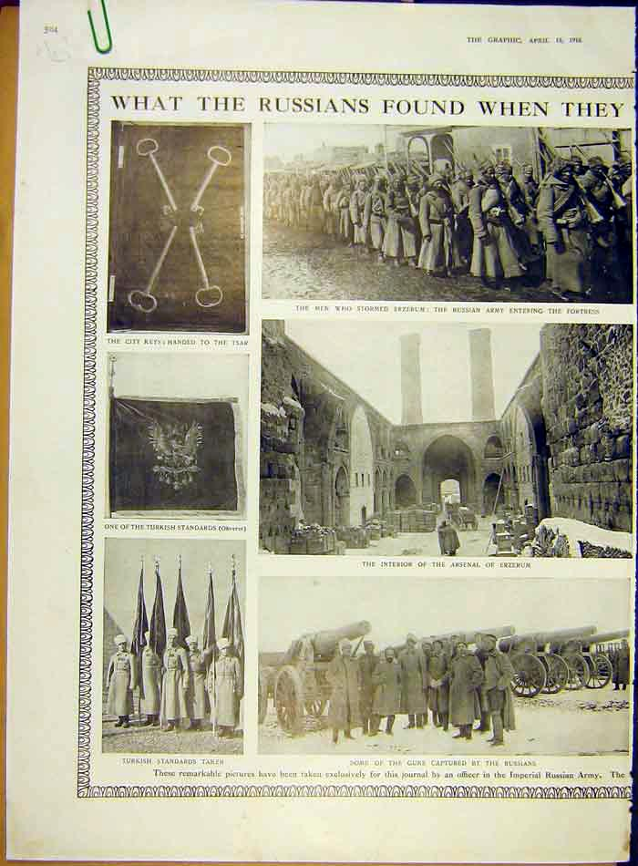 Print Russians Ww1 War Erzerum Arsenal Nicholas Koran Turks 04Addd0 Old Original
