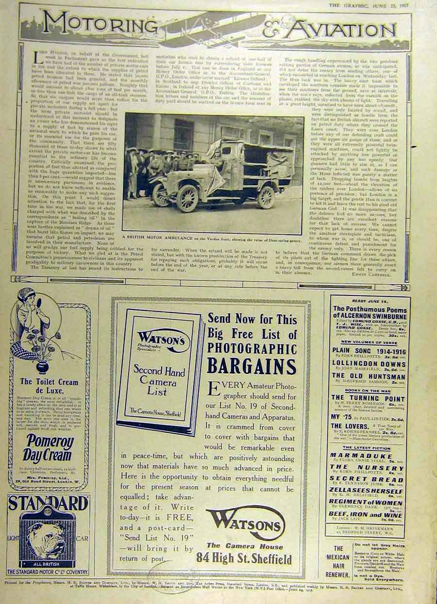 [Print 1917 Motor Ambulance Verdun Duco-Spring Gaiters Adverts 74Ddd0 Old Original]