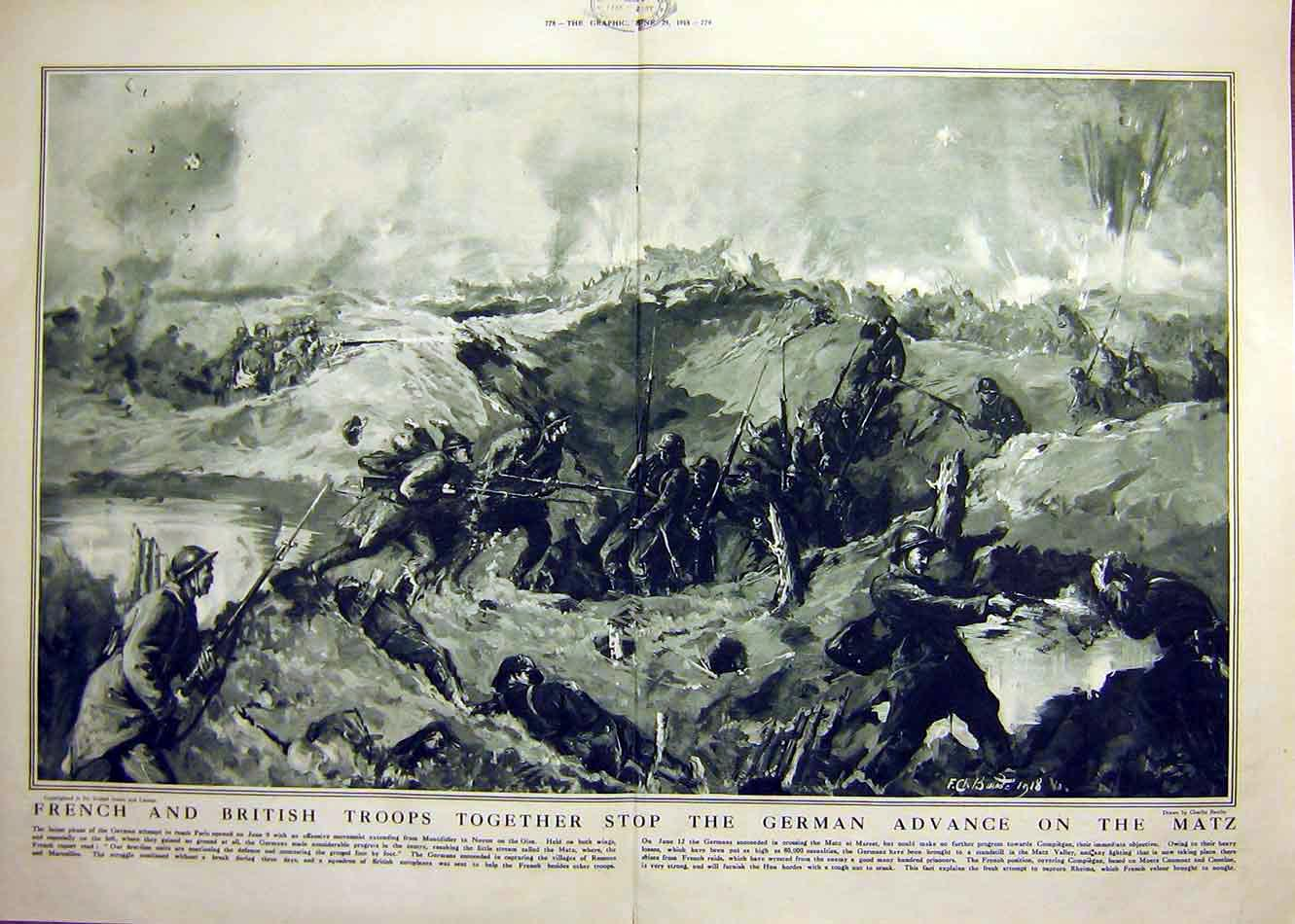 Print French Coup De Main Lorraine Battle Troops Ww1 1918359 Ddd0 Old Original