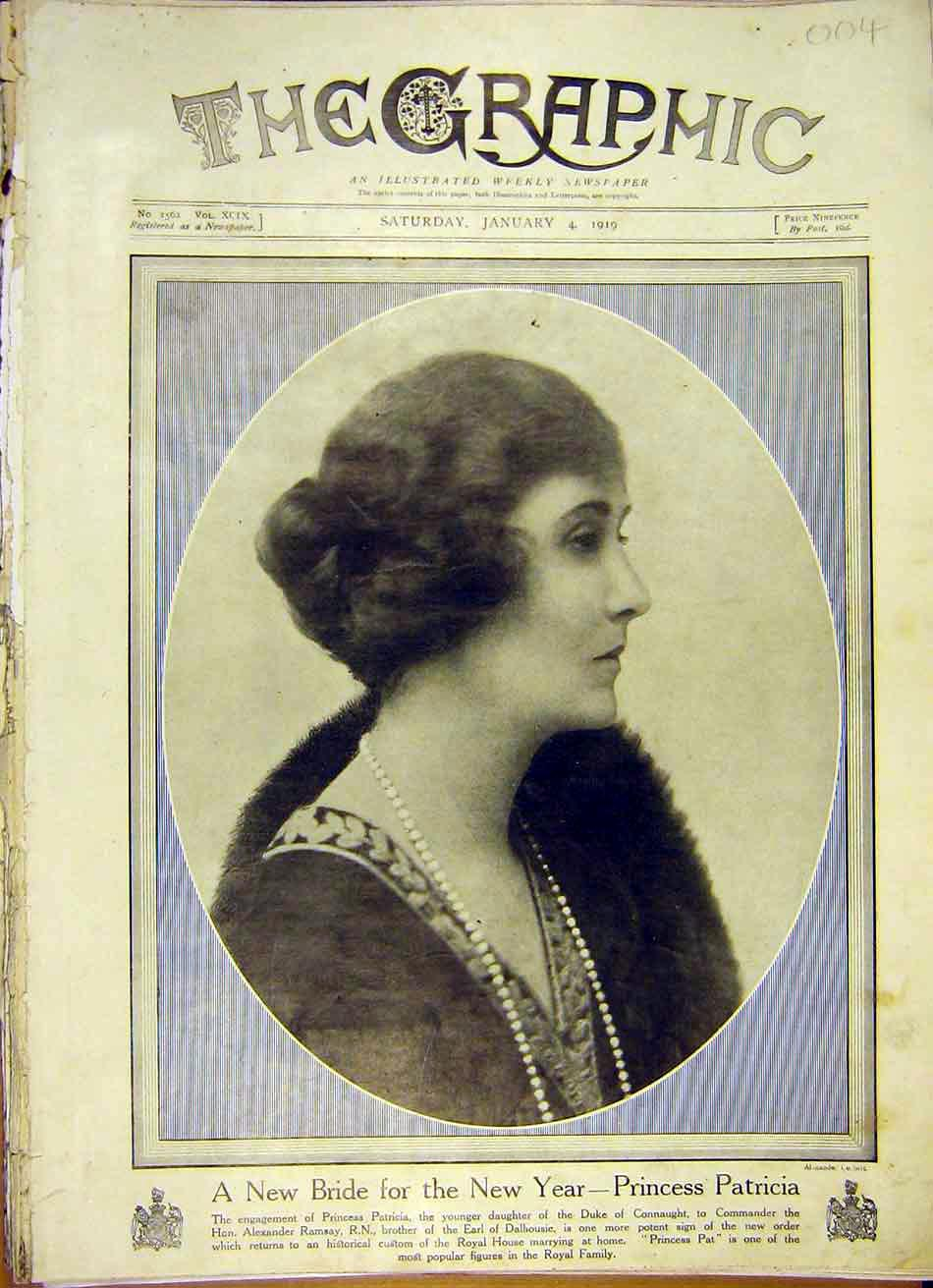 [Print Portrait Princess Patricia Bride Ramsay 1919 04Ddd0 Old Original]