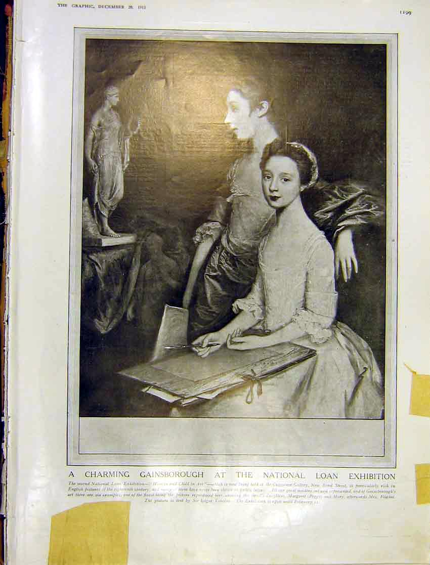 Print Painting Gainsborough National Loan Exhibition 1913 99Ddd1 Old Original