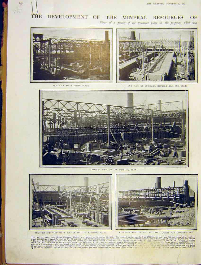 [Print Mineral Resource Cam Motor Gmine Treatment 1913 32Addd1 Old Original]