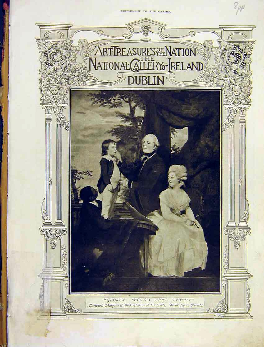 [Print Art Treasures National Gallery Dublin Ireland 1913 98Addd1 Old Original]