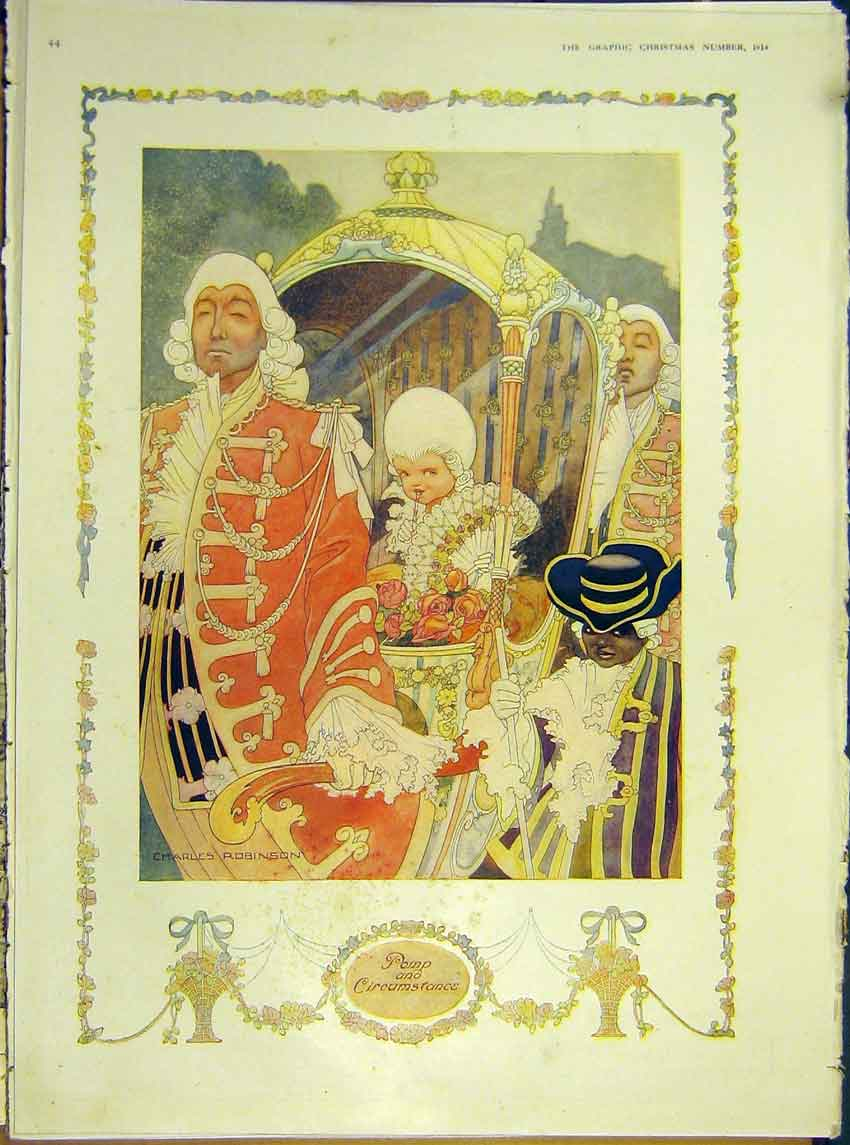 Print Robinson Painting Pomp Circumstance Carriage 1914 44Ddd1 Old Original