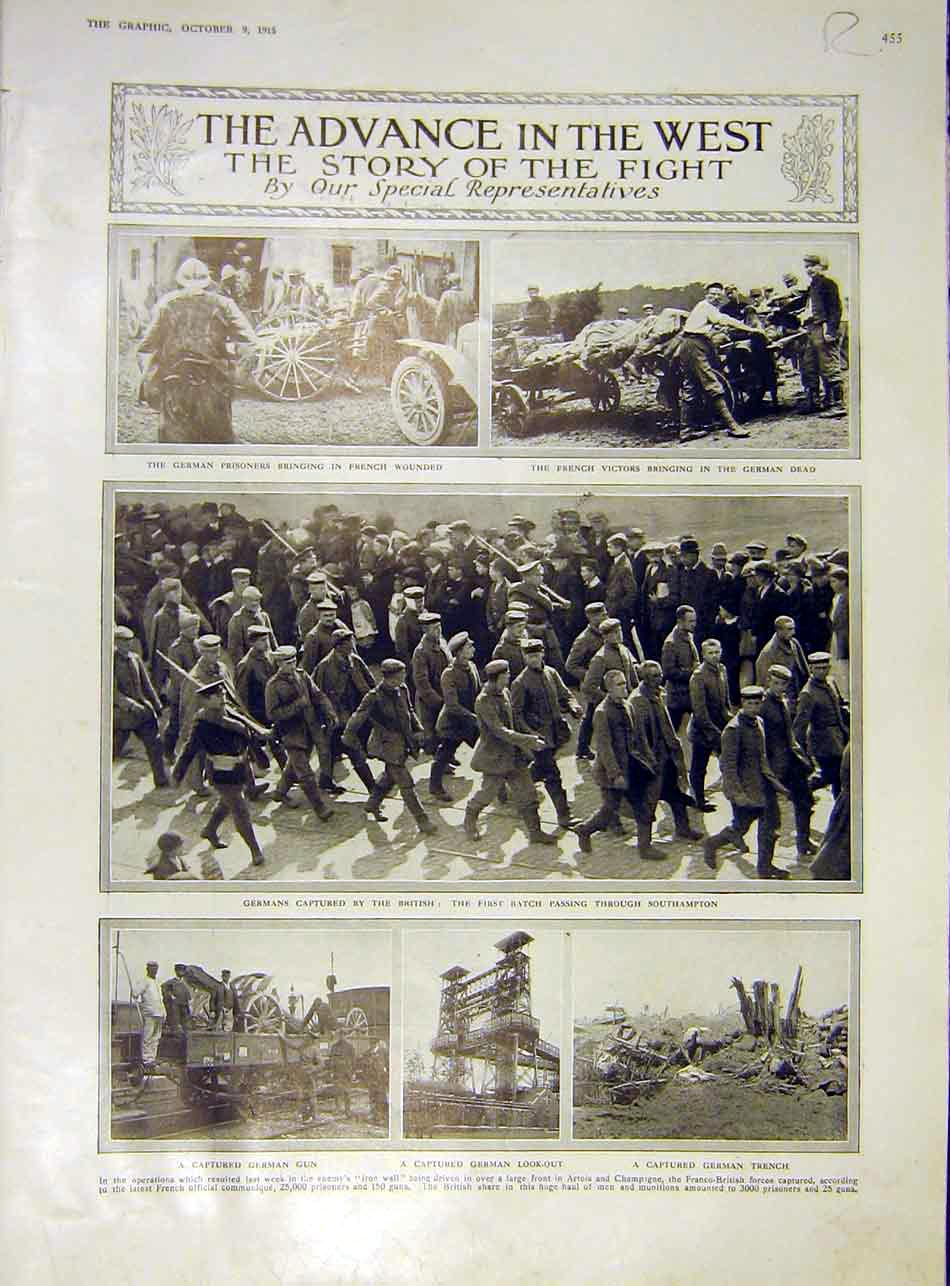 Print German Prisoners French Music Concert Artois Ww1 1915 55Rddd1 Old Original