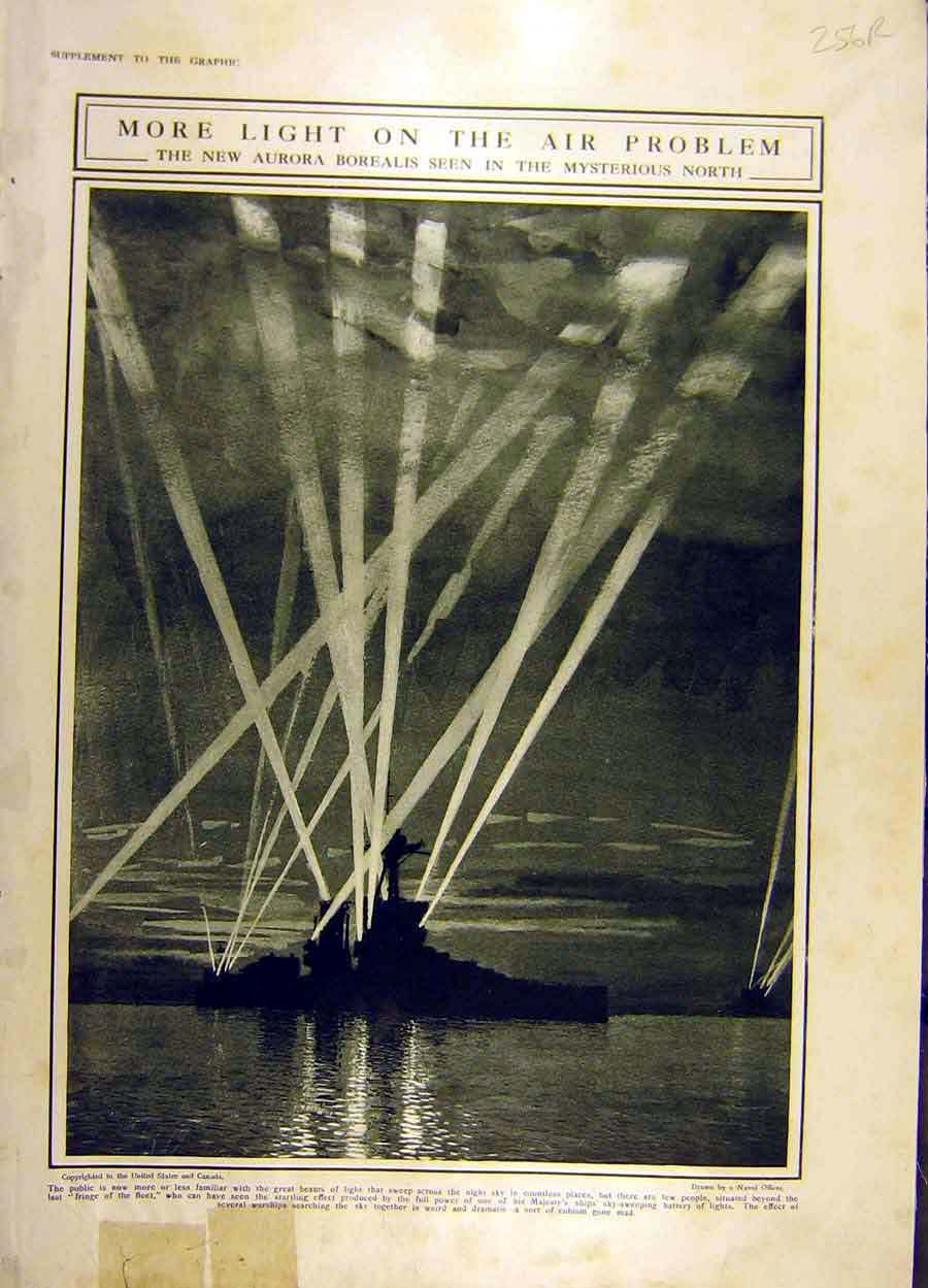 Print 1916 Light Battery Ship Navy Belgium War Ww1 Flanders 56Rddd1 Old Original
