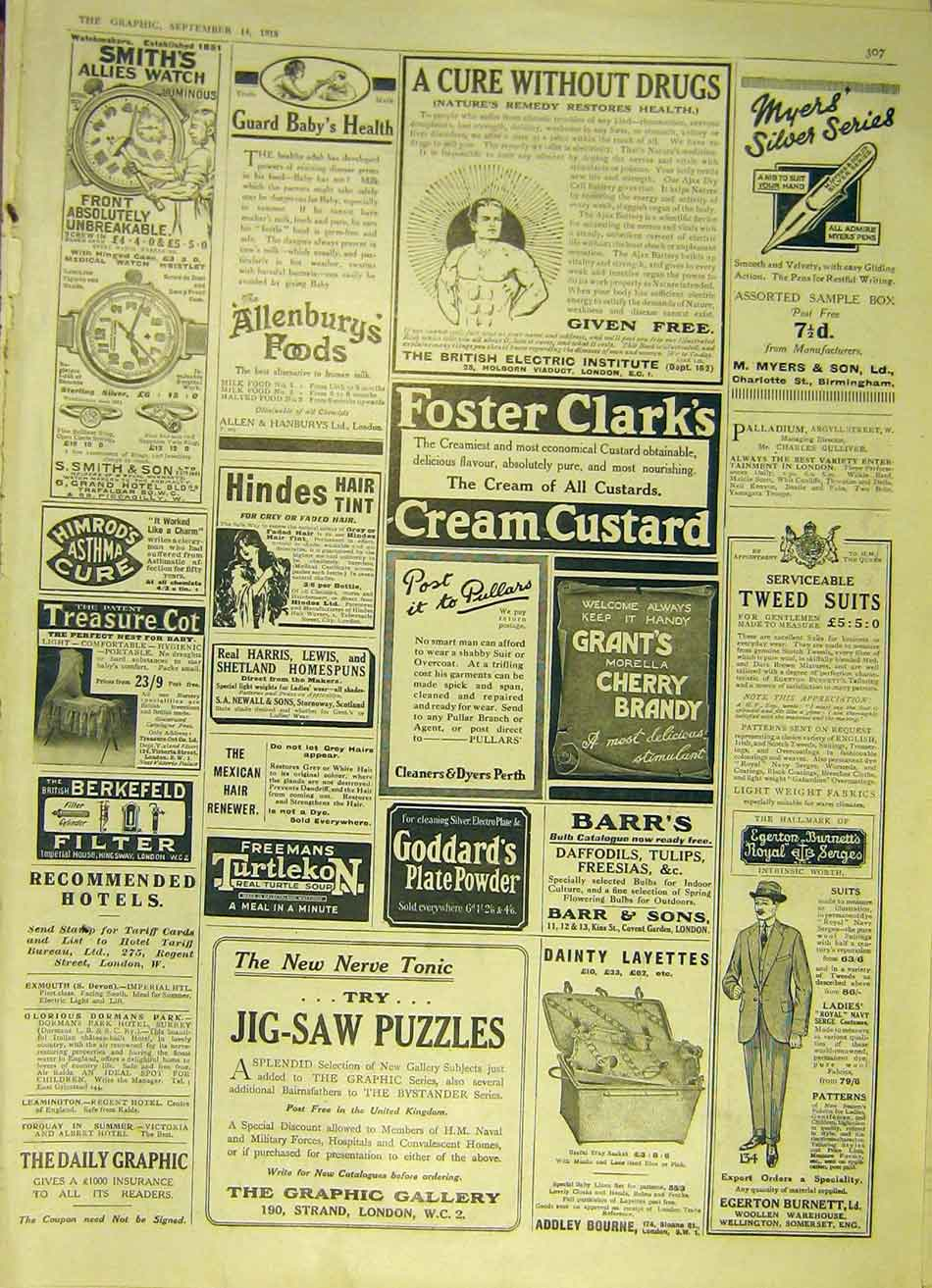 Print Advert Medical Allenburg'S Foster-Clark Berkefeld 1918 07Ddd1 Old Original