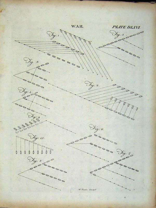 Print Encyclopaedia Britannica War Diagrams Drawings Plan 284E102 Old Original