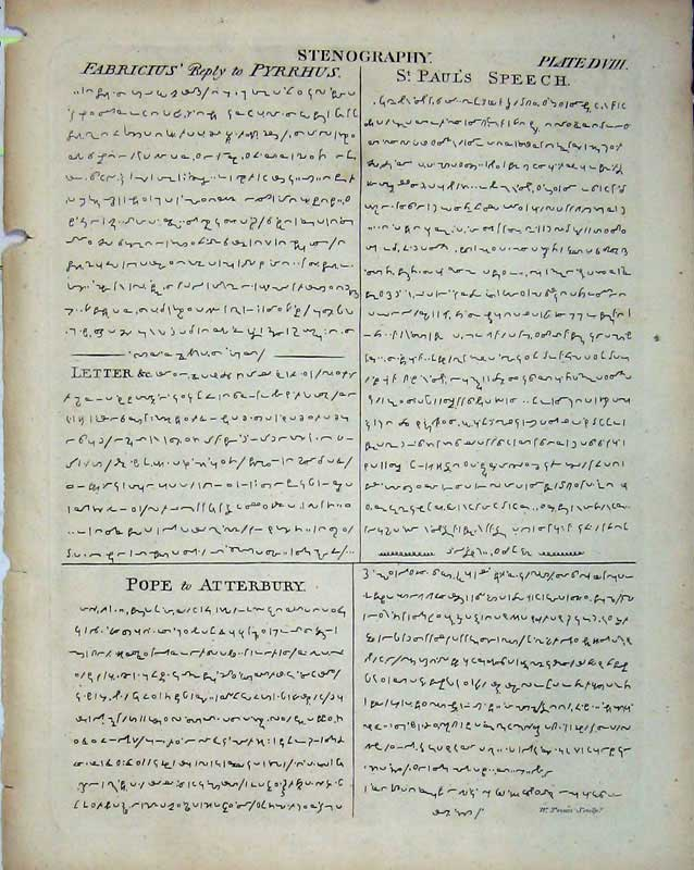 Print Encyclopaedia Britannica Stenography Pope St Paul 160E103 Old Original