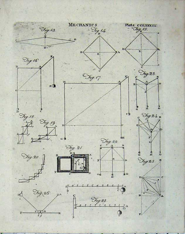 Print Mechanics Diagrams Science Encyclopaedia Britannica 148E104 Old Original