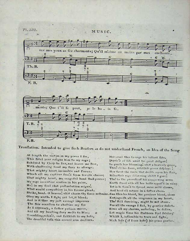 Print Encyclopaedia Britannica Sheet Music Lyrics Notes 197E104 Old Original