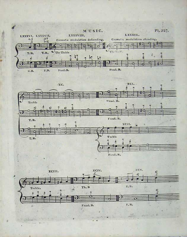 Print Encyclopaedia Britannica Sheet Music Notes Treble 202E104 Old Original