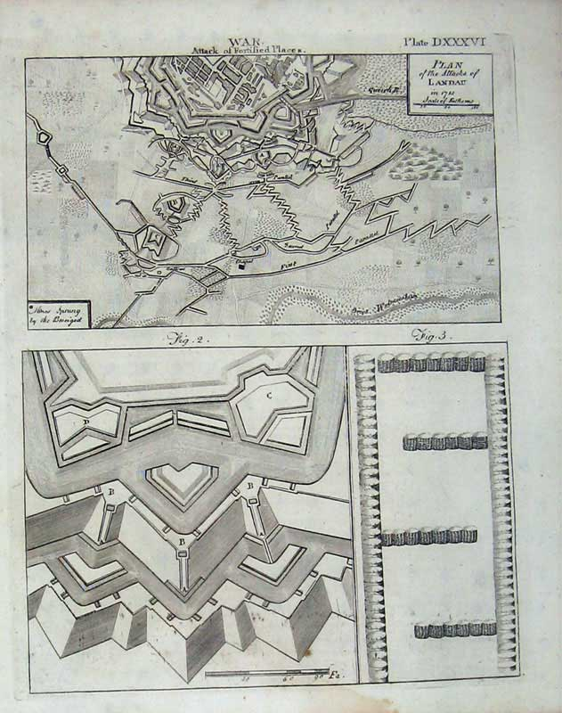 Print Encyclopaedia Britannica War Plan Attack Forts History 233E104 Old Original