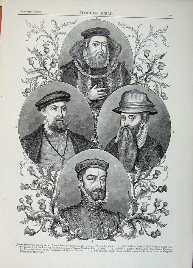 Print Edinburgh 1882 Portrait Hamilton Erskine Archibald Men 130E113 Old Original