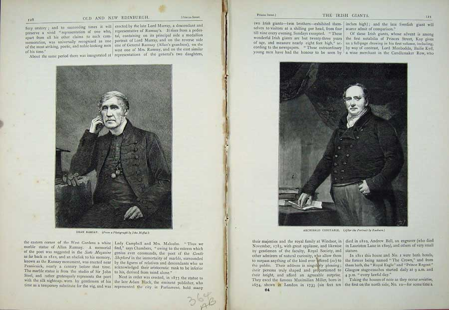 Print Portrait 1882 Dean Ramsay Archibald Constable Men 364Ae115 Old Original