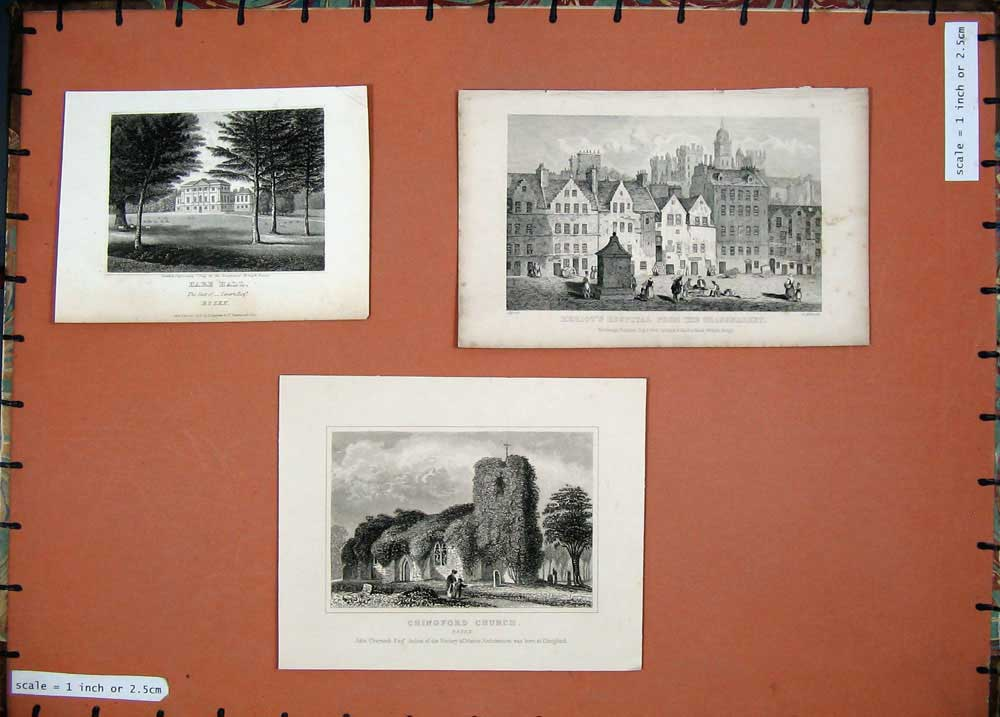 [Print Heriot Hospital Grassmarket Hare Hall Chingford Church 112E131 Old Original]