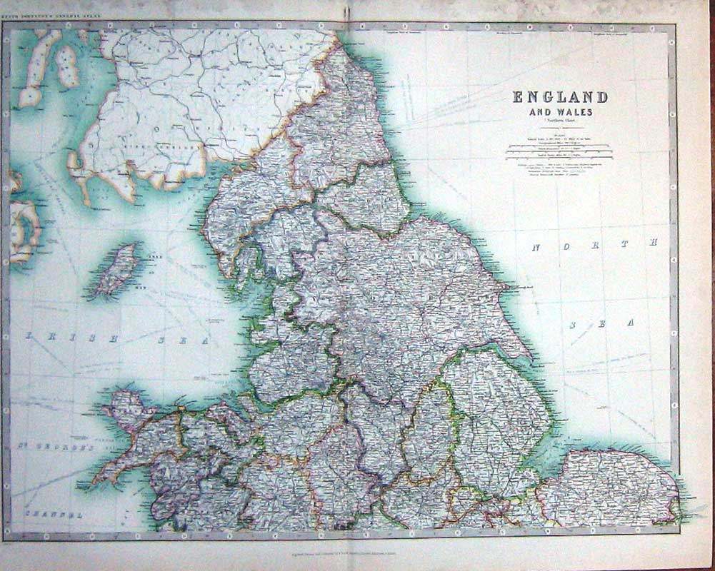 Old print antique and victorian art prints paintings world maps print 1914 geography maps england wales isle man north sea 008e165 old original gumiabroncs