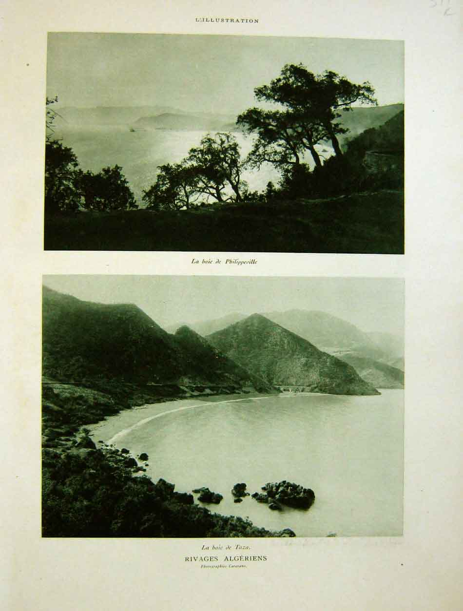 Print Bay Philippeville Taza Algeria 1930 French 379Re202 Old Original