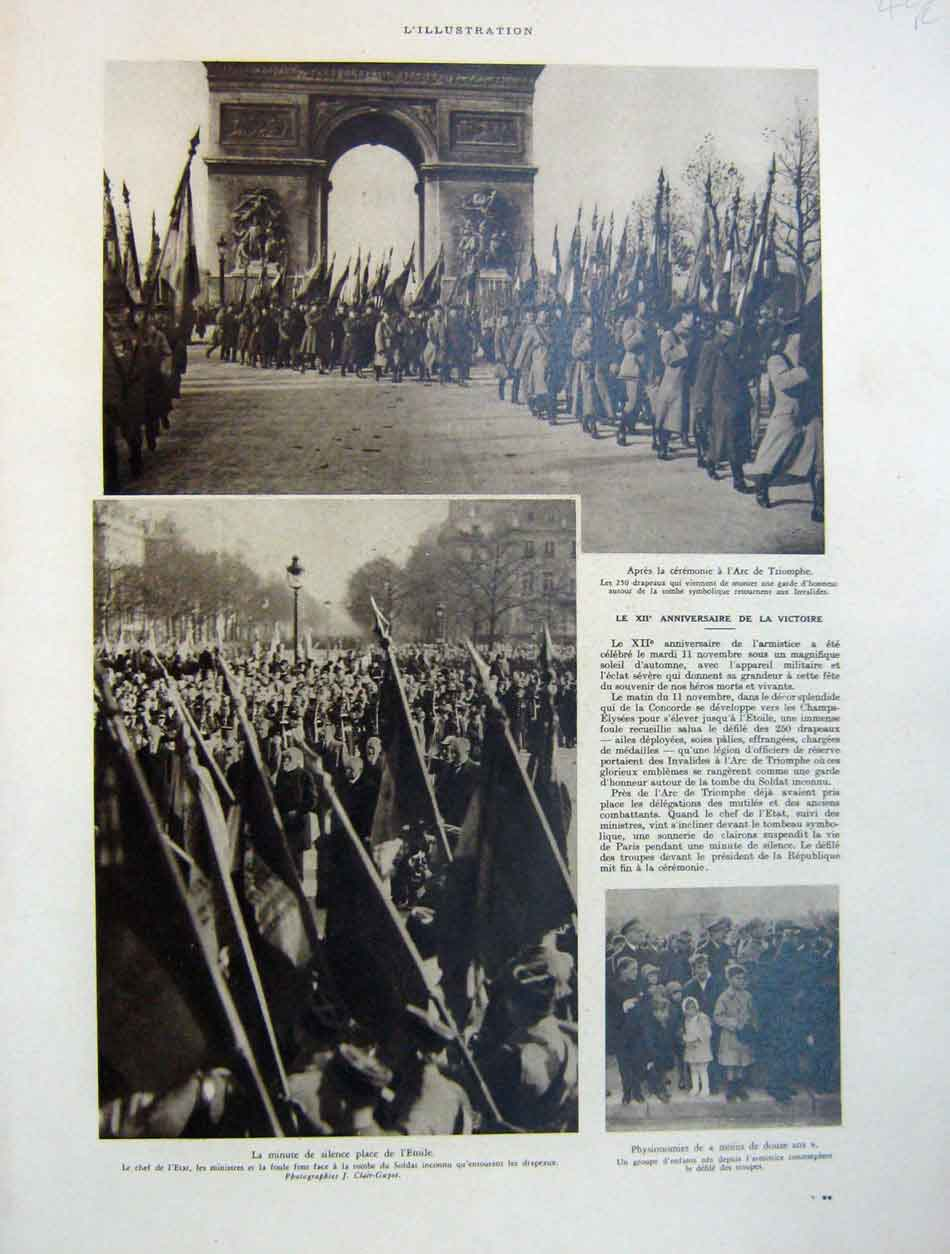 [Print 12 War Victory Parade D'Esperey At Addis Abeba 1930 423Re202 Old Original]