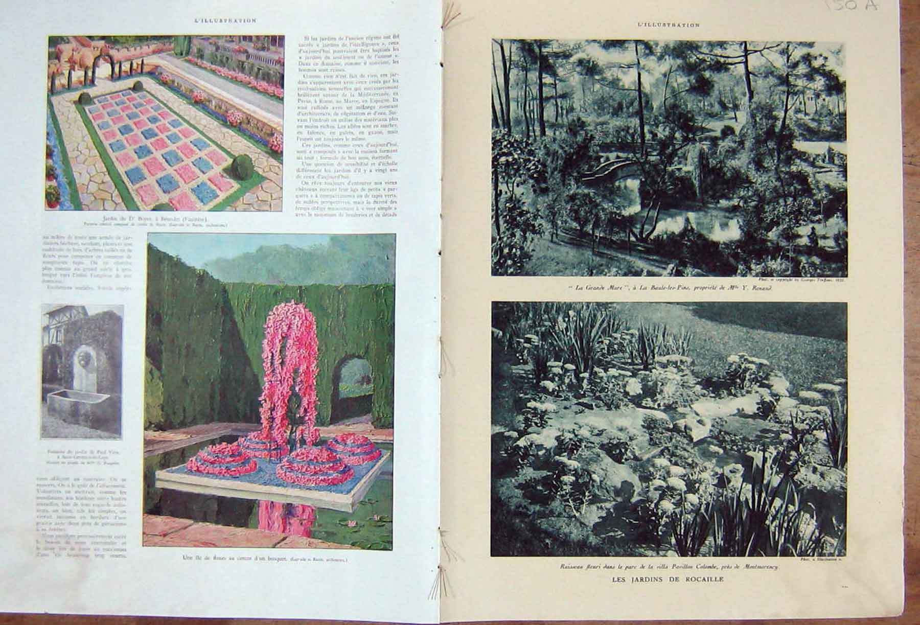 [Print Rocaille Garden Seville Forestier Spain French 1932 150Ae211 Old Original]