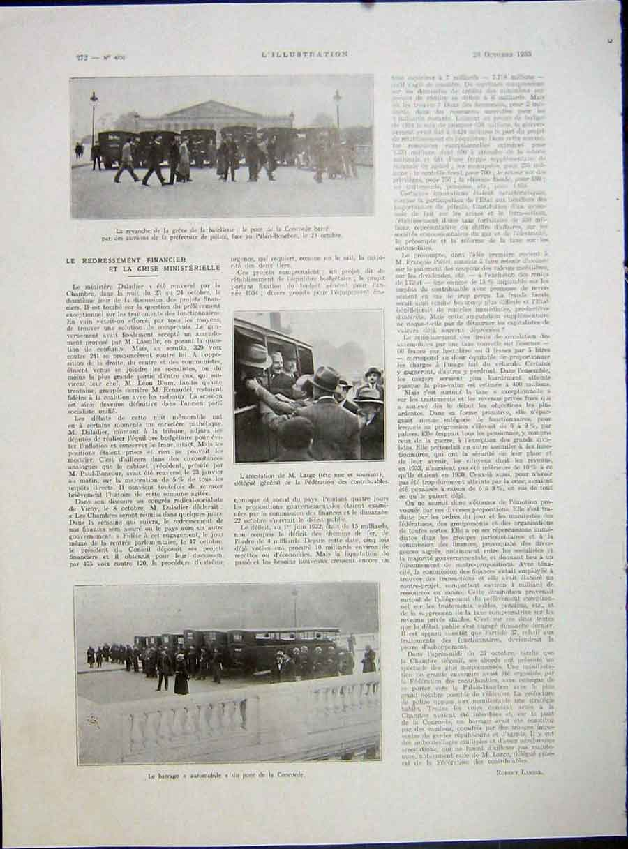 [Print Large France War Concorde Military French 1933 111E212 Old Original]