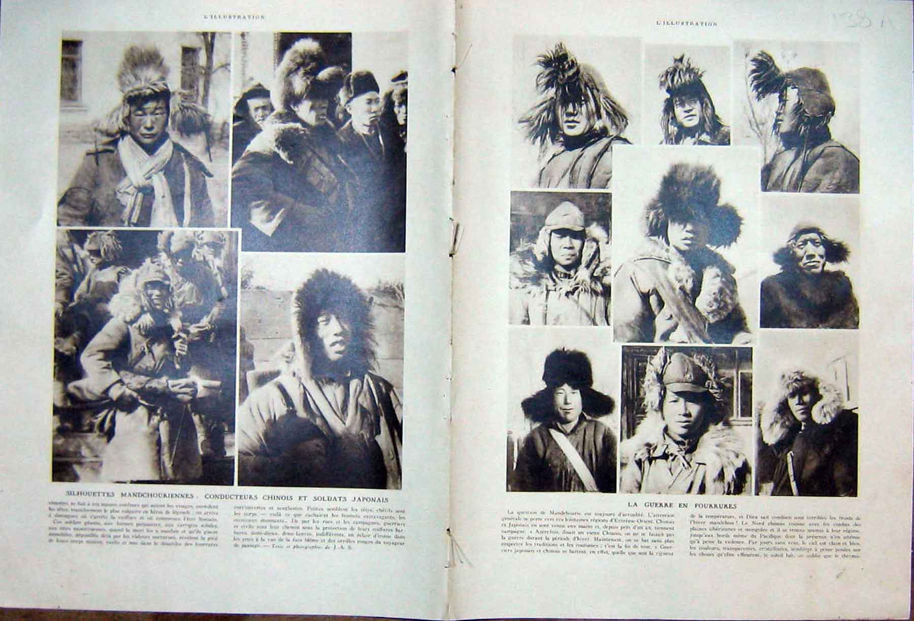 [Print War Mandchourie Chinese Military Japanese French 1933 138Ae216 Old Original]