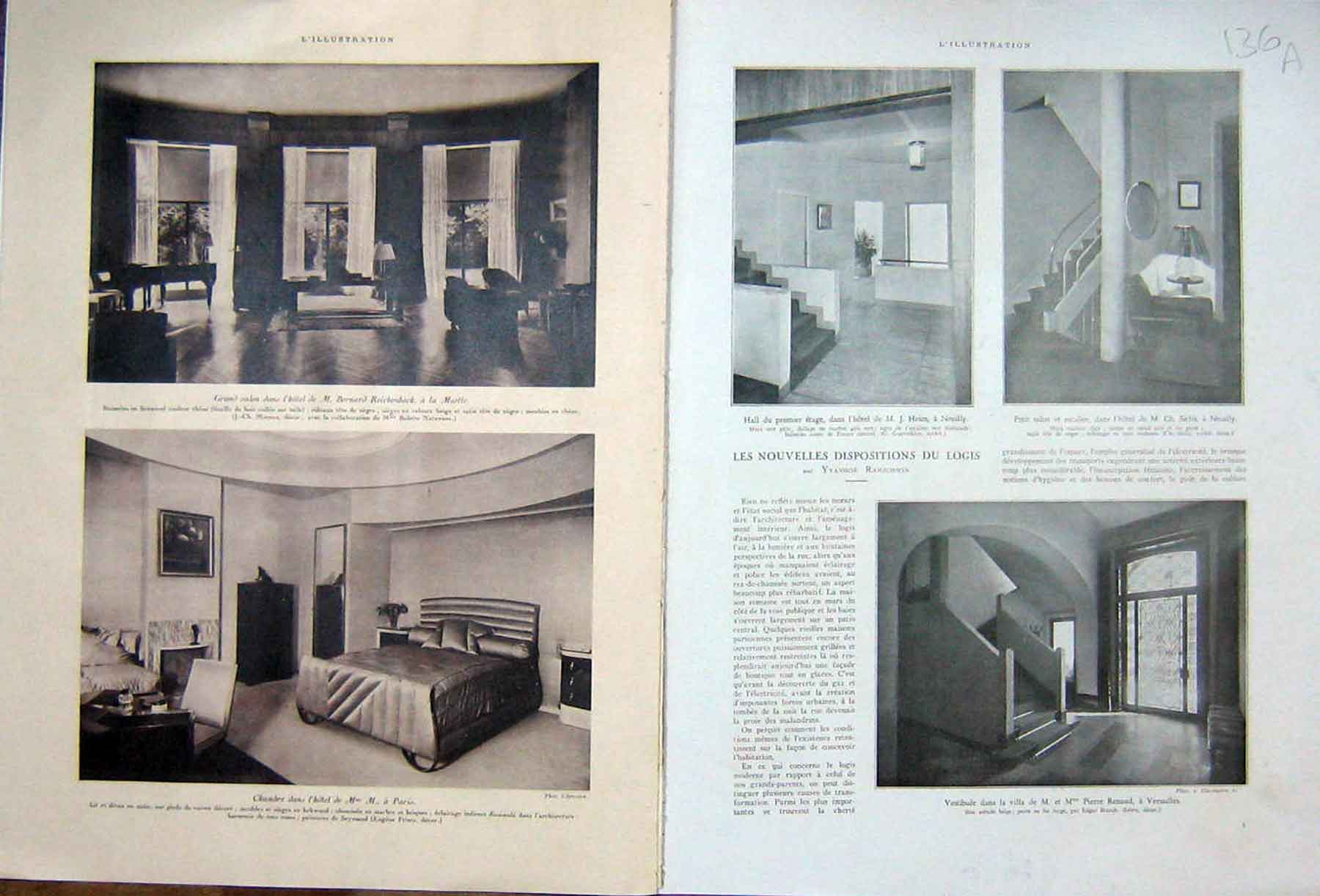 [Print Interior Decoration Design Decor Logis French 1933 136Ae217 Old Original]