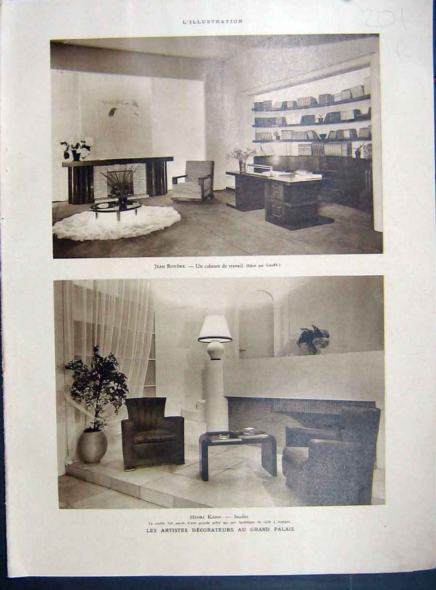 [Print Interior Decor Design Grand-Palace Studio 1935 French 201Re222 Old Original]