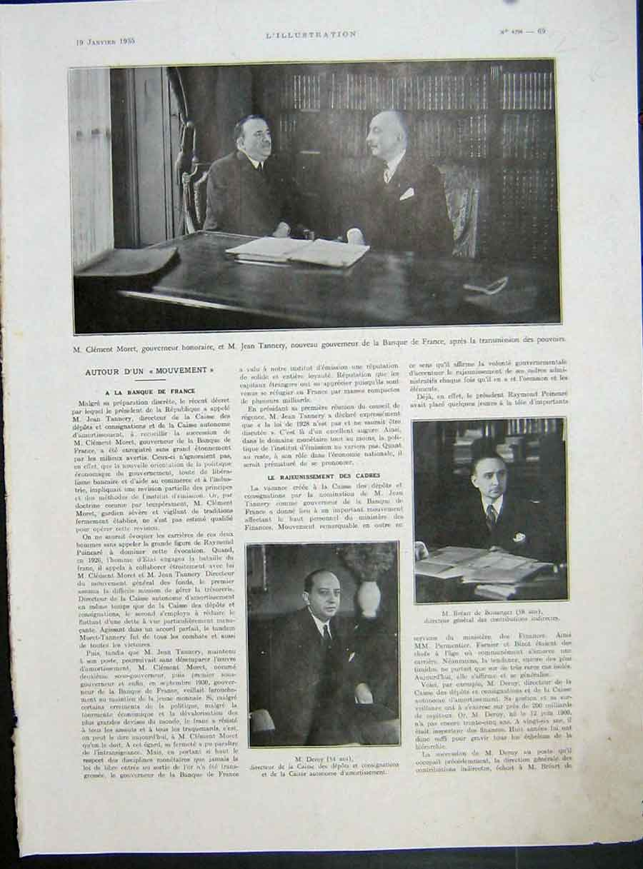 [Print Moret Tannery Deroy Bank France Spain Royal Family 1935 225Re222 Old Original]