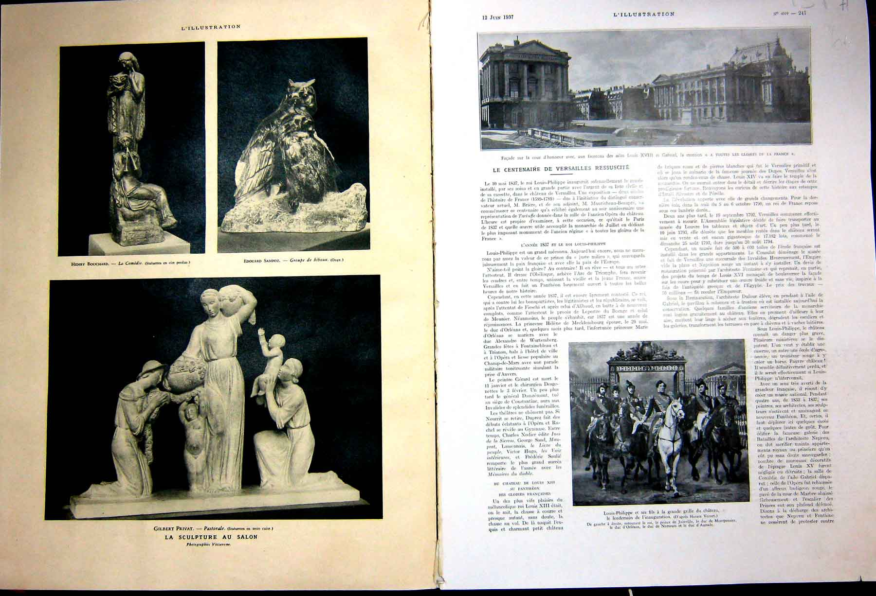 [Print Versailles Museum Decor Artifacts French 1937 131Ae238 Old Original]