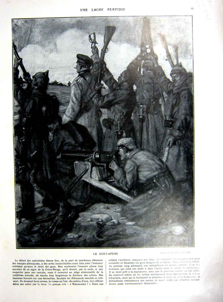 [Print Artillery Weapons Train Hospital Railway French 1927 117Re253 Old Original]