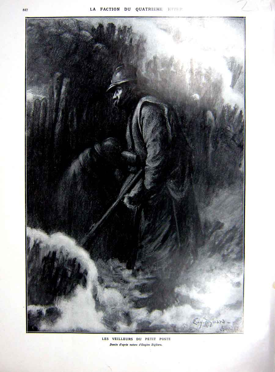 [Print Winter Faction War Ww1 Soldier Women Farmer Child 1927 219Re253 Old Original]