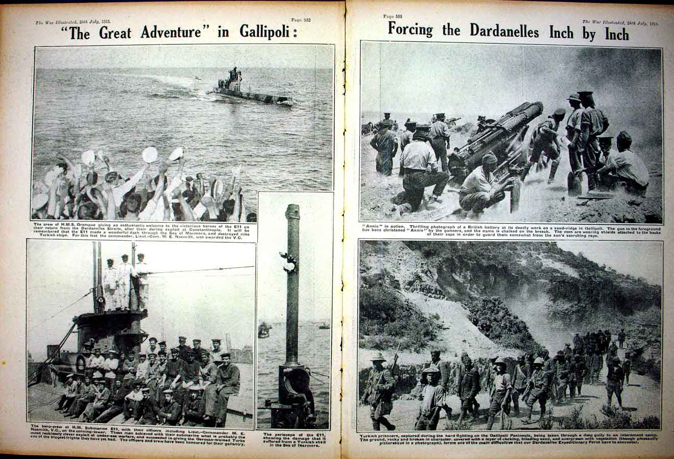 [Print *0330 World War 1 Ian Hamilton Gallipoli Soldiers Dardanelles 107Ae267 Old Original]