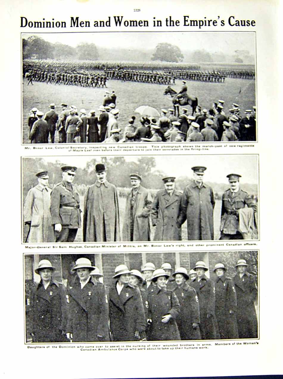 [Print 1915 World War Women Workers Gas Potters Bonar Law 138Re286 Old Original]