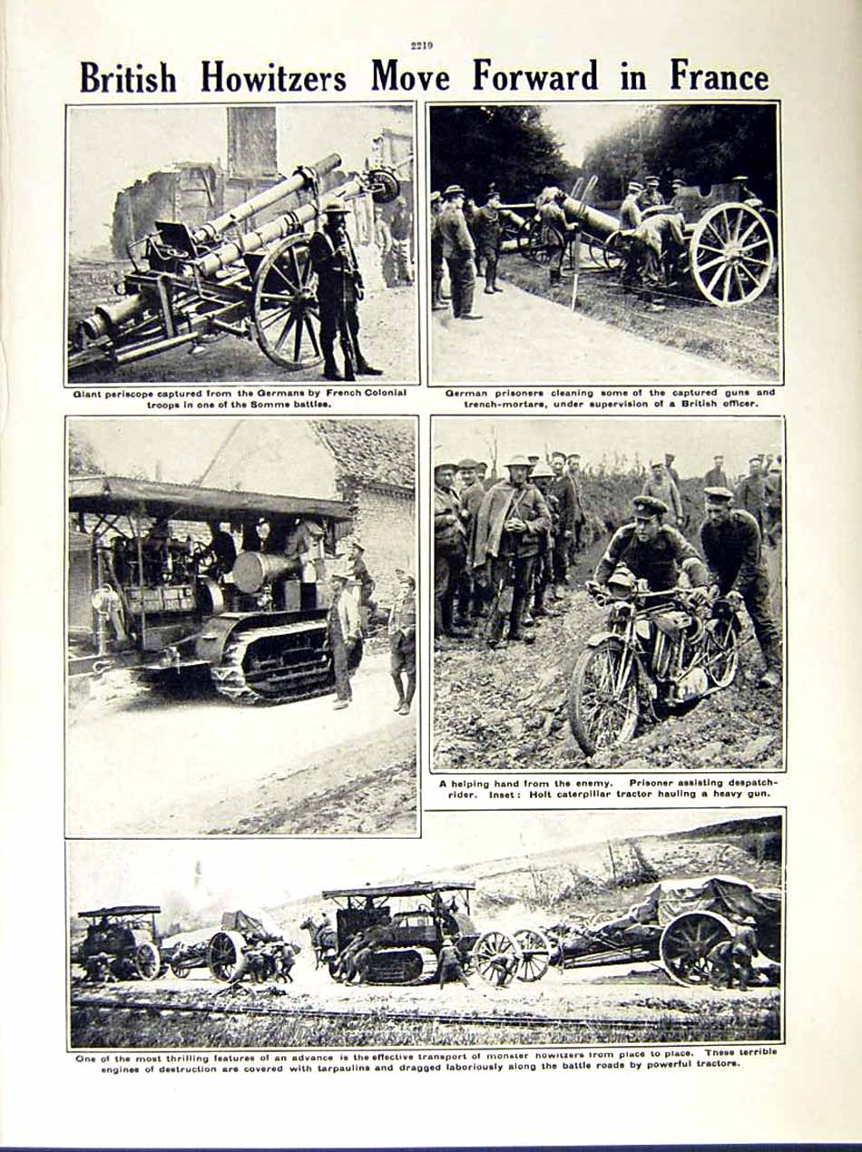 [Print 1916 World War R.A.M.C Somme Soldiers Periscope Guns 232Re287 Old Original]