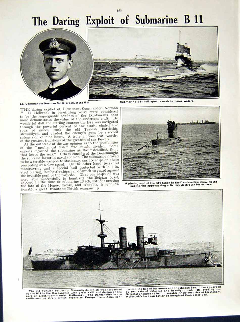 [Print 1914-15 World War Glossop Chatham Ship Sydney Marmora 156Re289 Old Original]