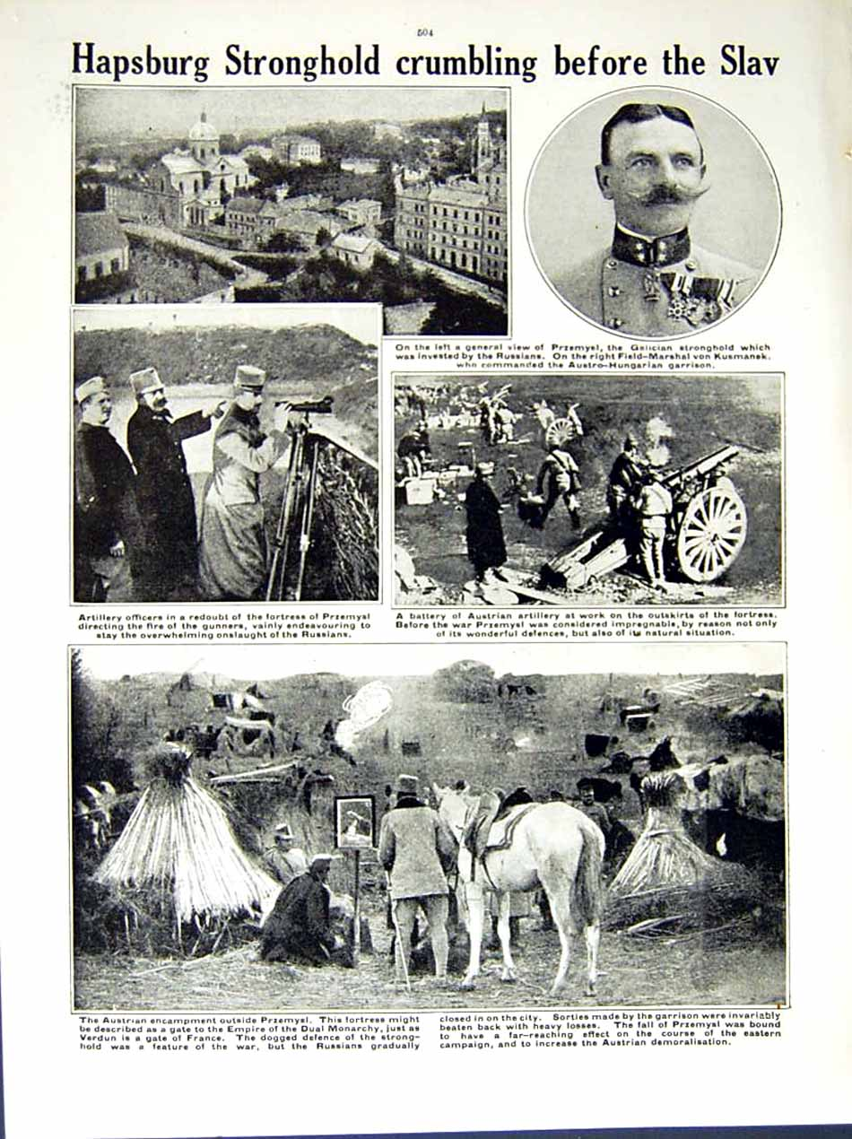 [Print 1914-15 World War German Soldiers Austrian Hapsburg 186Re289 Old Original]