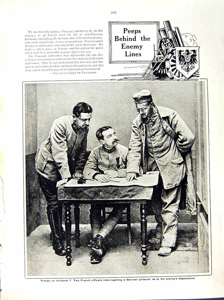 [Print 1916 World War Bavarian Soldiers Jerablus French Army 131Re291 Old Original]