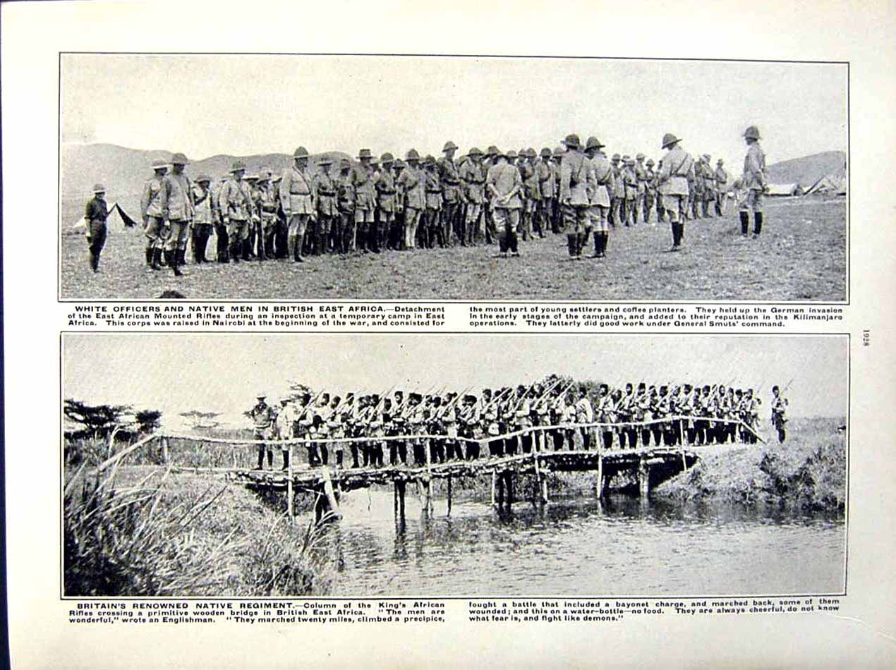 [Print British Hospital Africa 1916 World War Smut British 170Re291 Old Original]