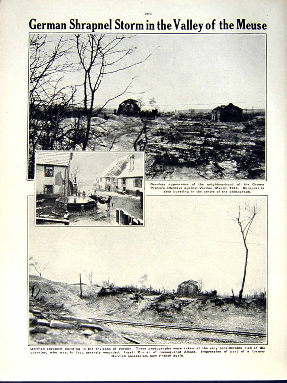 [Print 1916 World War Dead Man'S Hill French Soldiers Meuse 193Re291 Old Original]