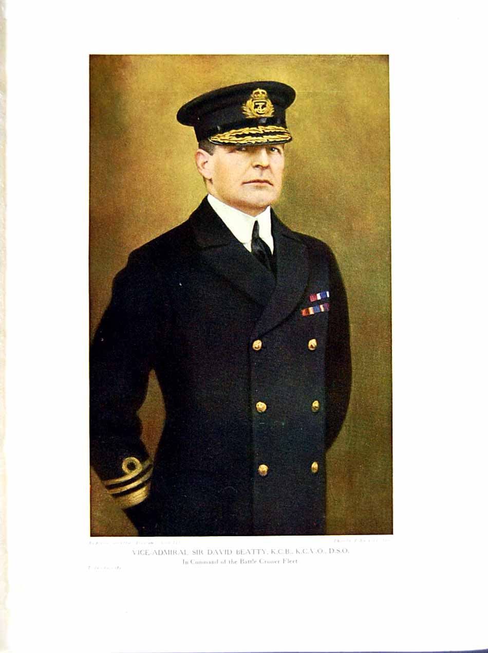 [Print 1916 World War Vice-Admiral Sir David Beatty Commander 256E291 Old Original]