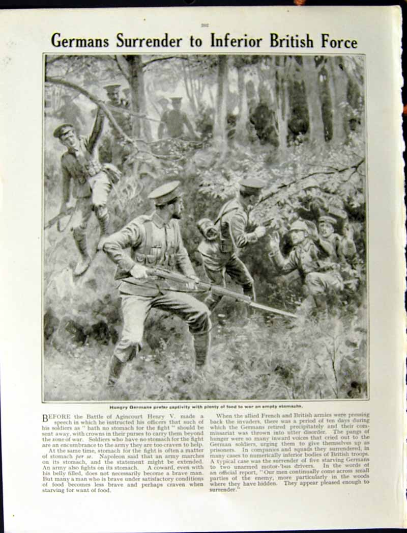 [Print 1915 World War German Soldiers Mayor Senlis Murders 213Re294 Old Original]
