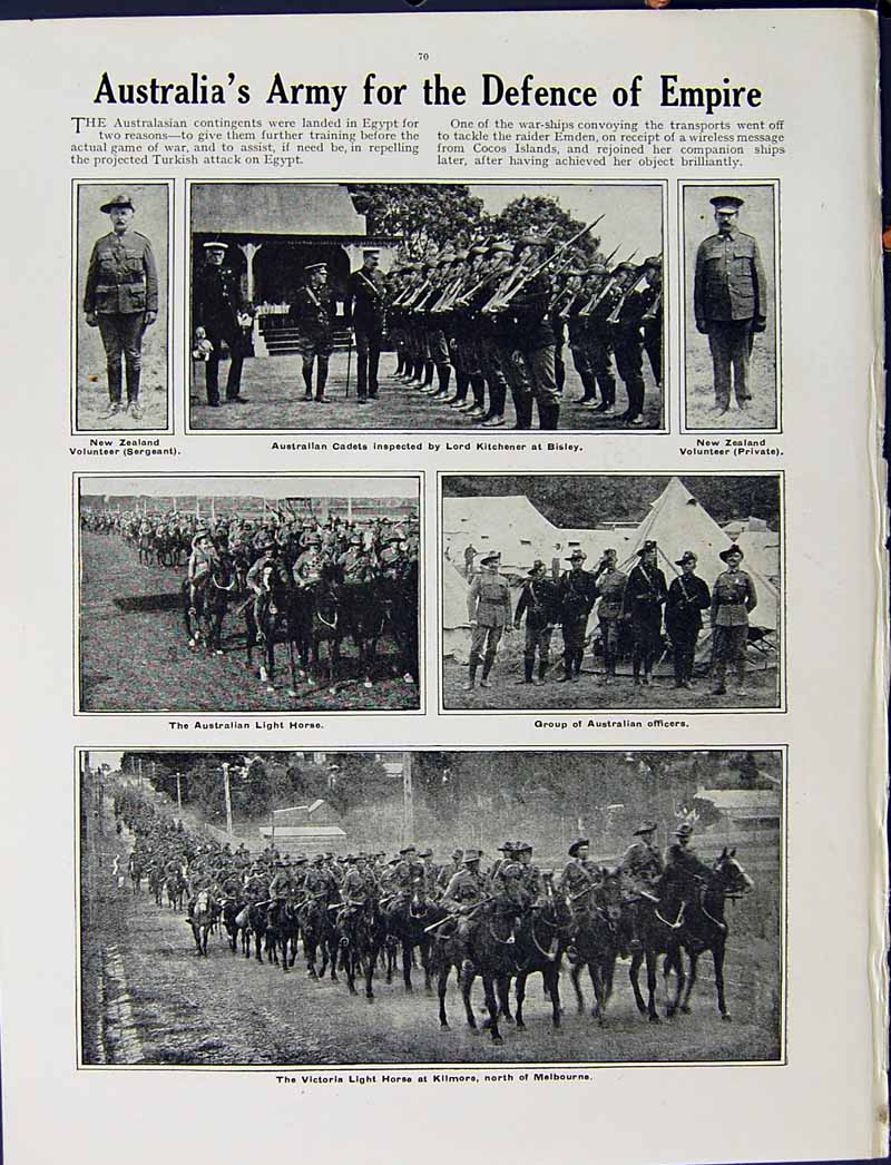 [Print 1915 War German Soldiers Botha Africa Australian Dutch 261Re294 Old Original]