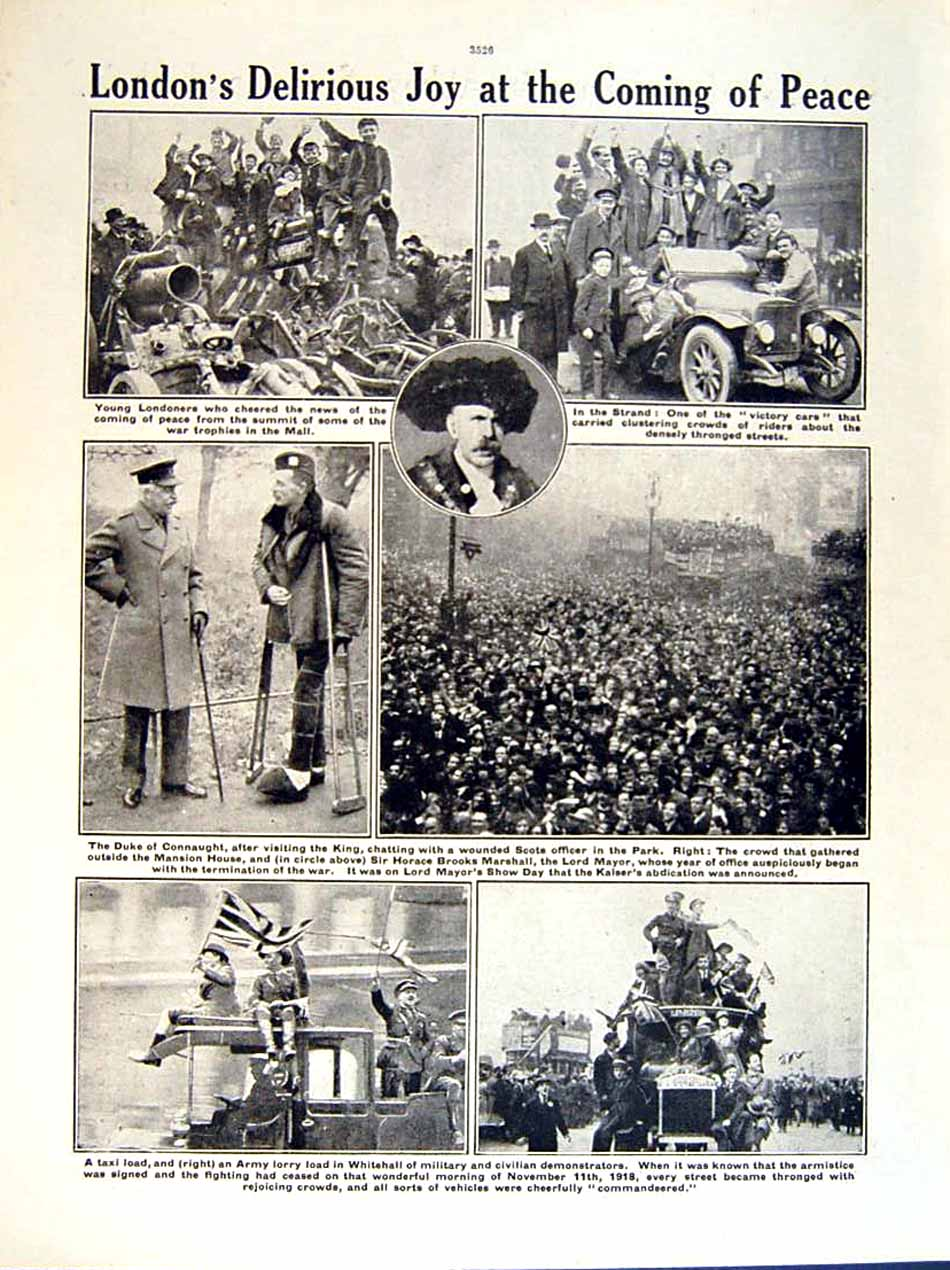 [Print 1919 World War Westminster Abbey Soldiers Whitehall 156Re295 Old Original]