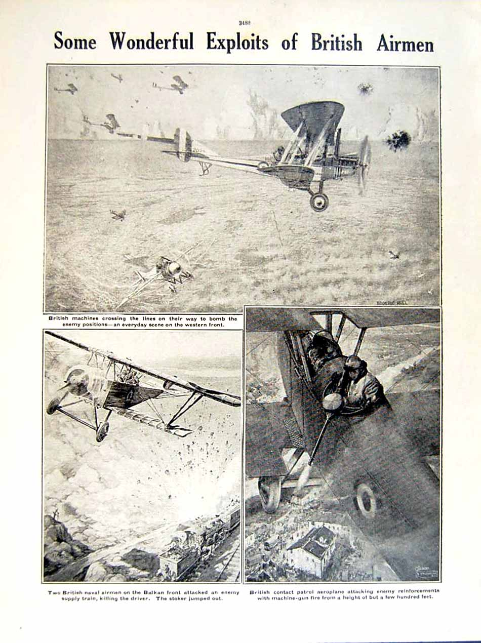 [Print 1919 World War Liverpool Ship Diomed Wreck Aeroplanes 174Re295 Old Original]