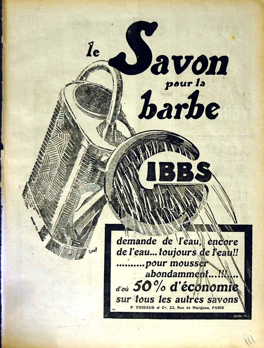 [Old Antique Print Advertisement Le Rire French Humor Magazine Savon 111E349 ]