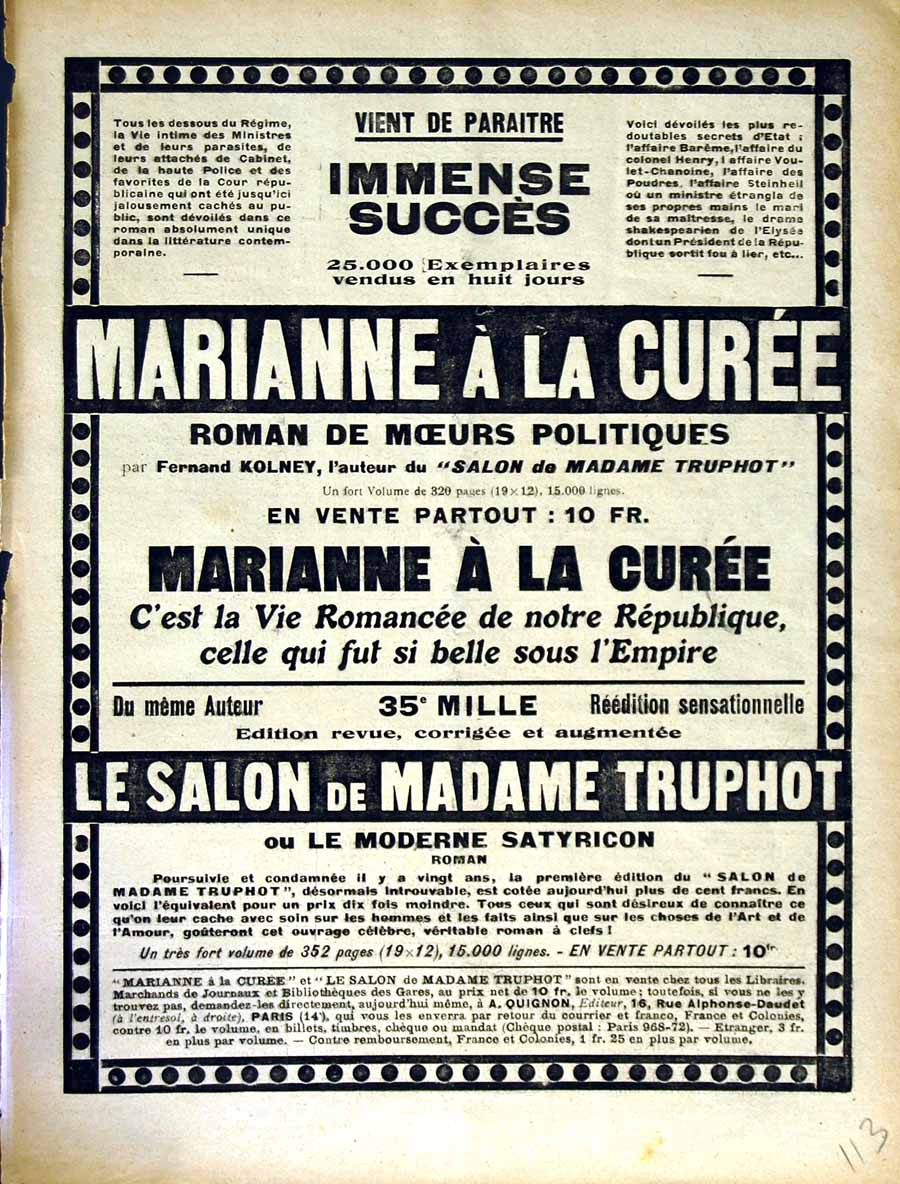 [Old Antique Print Advertisement Le Rire French Humor Magazine Truphot 113E349 ]