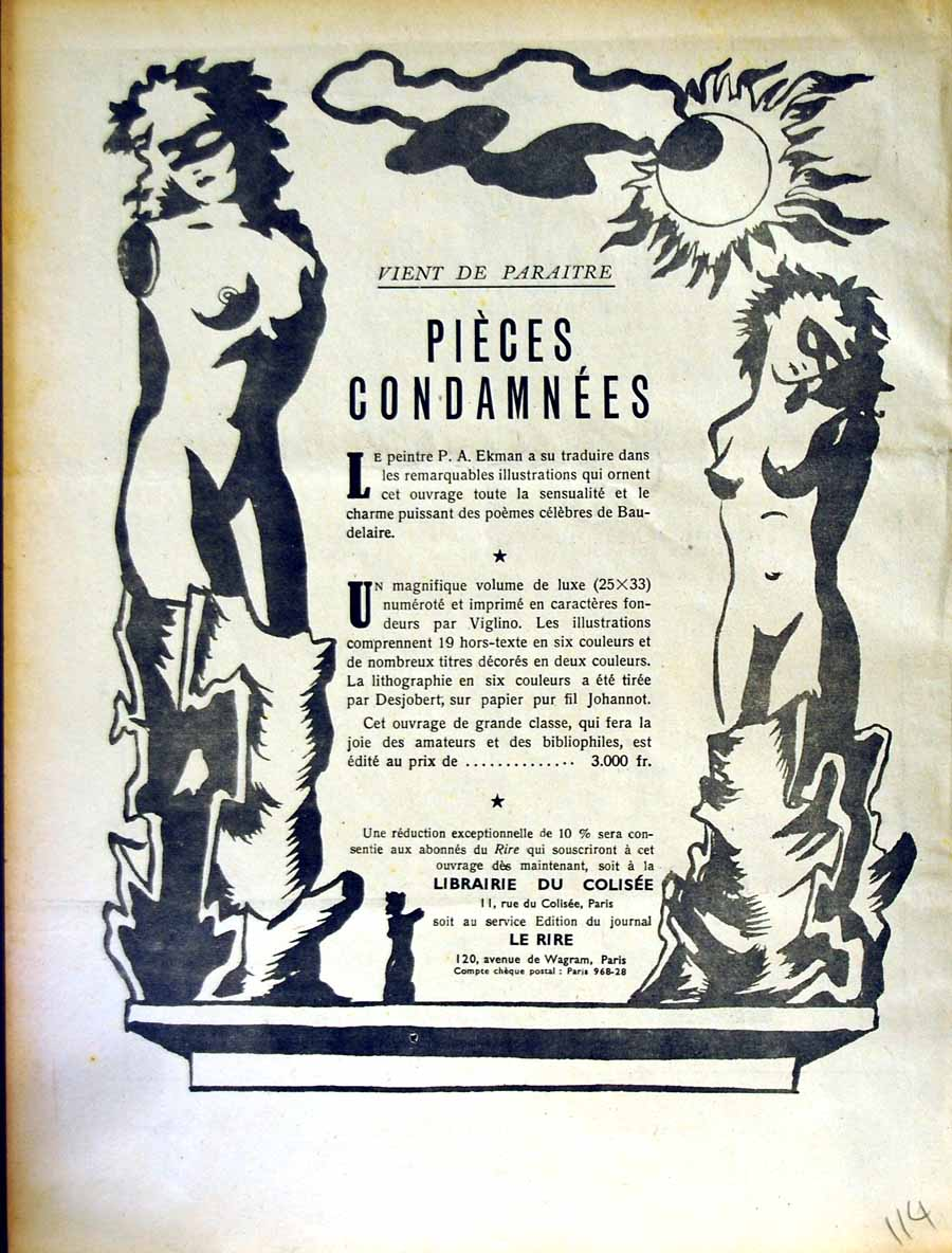[Antique Print Advertisement Le Rire French Humor Magazine Condamnees 114E349 ]