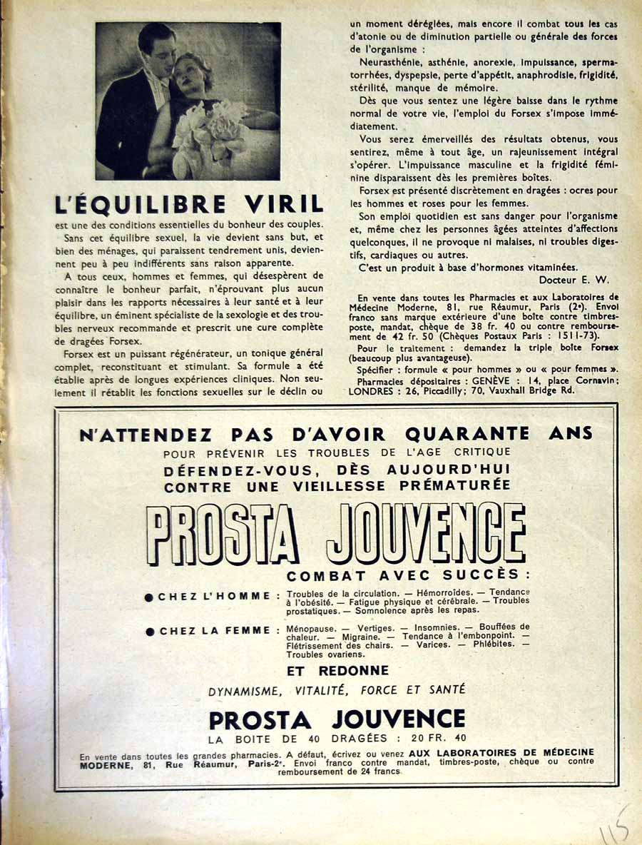 [Old Antique Print Advertisement Le Rire French Humor Magazine Prosta 115E349 ]