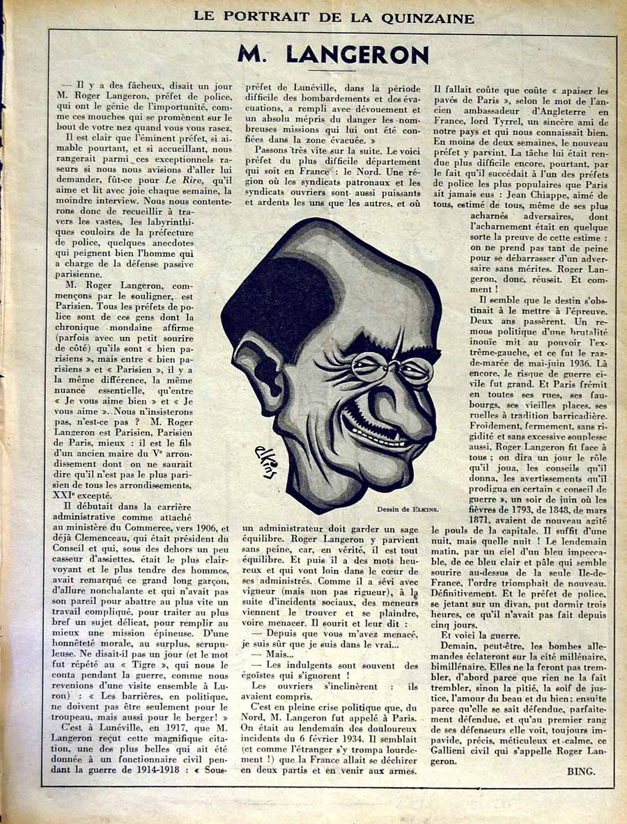 [Old Antique Print Le Rire (The Laugh) French Humor Magazine Cartoons 302RE349 ]